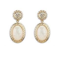 Fashional Resin Zinc Alloy Ladies' Fashion Earrings