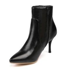 Women's Leatherette Stiletto Heel Pumps Closed Toe Boots Ankle Boots shoes