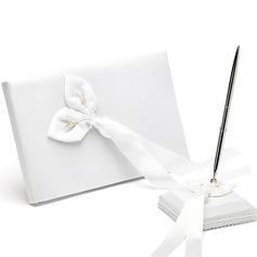 Calla Lily Petals Guestbook & Pen Set
