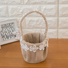 Beautiful Flower Basket in Satin With Flower (102093300)
