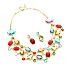 Beautiful Alloy/Rhinestones Ladies' Jewelry Sets