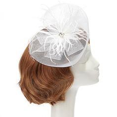 Elegant Net Yarn/Feather Fascinators