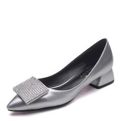 De mujer Tela Tacón ancho Salón Cerrados con Rhinestone zapatos