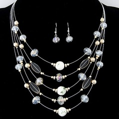 Beautiful Alloy With Imitation Crystal Ladies' Jewelry Sets
