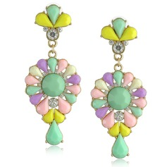 Beautiful Alloy Rhinestones Resin Ladies' Fashion Earrings