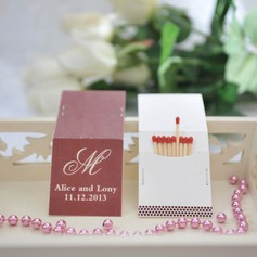 "Personalized ""Initial"" Hard Card Paper Matchboxes"