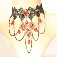 Gorgeous Alloy Rhinestones Lace With Rhinestone Lace Ladies' Fashion Necklace
