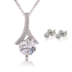 Elegant Alloy Ladies' Jewelry Sets