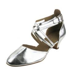 Women's Leatherette Heels Pumps Modern Dance Shoes