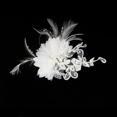 Gorgeous Feather/Lace Fascinators/Combs & Barrettes With Venetian Pearl