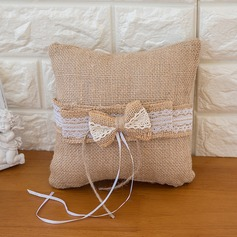 Pure Elegance Ring Pillow in Satin With Sash/Bow