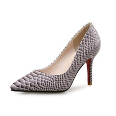 Women's Leatherette Stiletto Heel Pumps With Animal Print shoes