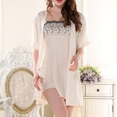 Artificial Silk Feminine Sleepwear (Including Chemise And Robe)
