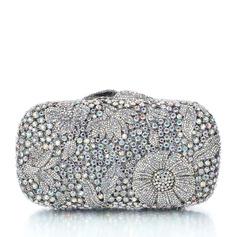 Elegant Rhinestone/Sølv Brude Pung/Luksus Koblinger