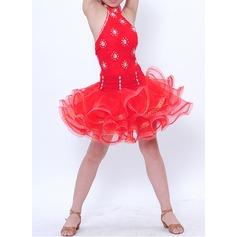 Kids' Dancewear Polyester Latin Dance Dresses