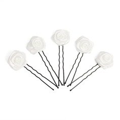 Gorgeous Alloy Satin Hairpins (Set of 5)