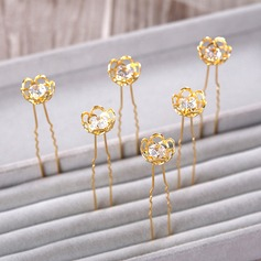 Charming Gold Plated Hairpins (Set of 5)