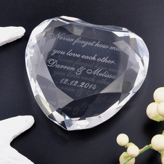 Personalized Heart-shaped Crystal Keepsake