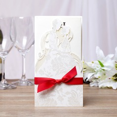 Personalized Bride And Groom Hard Card Paper Invitation Cards (Set of 50)