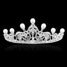 Fashion Rhinestone/Alloy/Imitation Pearls Tiaras