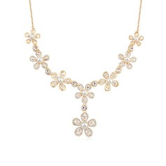 Exquisite Alloy/Gold Plated With Pearl Ladies' Necklaces