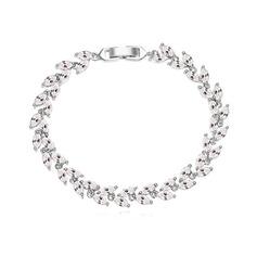 Nice Zircon/Platinum Plated Ladies' Bracelets