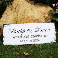 Personalized Vintage PVC Wedding Sign (131065759)