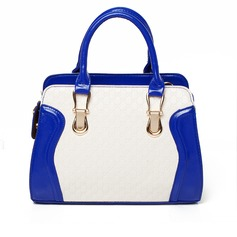 Attractive PU With Makeup Bag Top Handle Bags