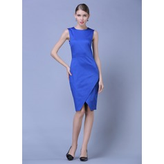 Polyester/Cotton With Solid Color Knee Length Dress (199086978)