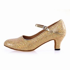 Women's Leatherette Heels Modern With Sequin Dance Shoes