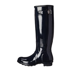 Women's Rubber Low Heel Knee High Boots Rain Boots shoes