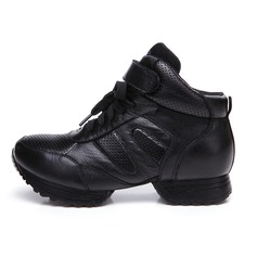 Women's Real Leather Boots Jazz Practice Dance Shoes