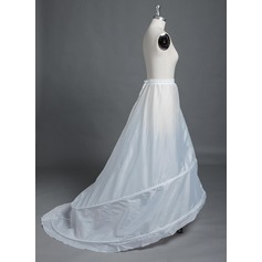 Women Polyester Chapel Train 1 Tiers Petticoats