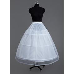 Women Tulle Netting/Polyester 2 Tiers Petticoats