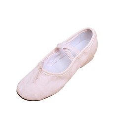 Women's Kids' Canvas Heels Ballet Dance Shoes
