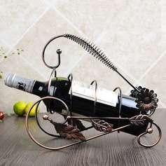 Floral Design Flower Shape Alloy Bottle Holder / Wine Rack (052095634)