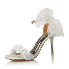 المرأة سويدي كعب ستيليتو صنادل مع عقد لطيفة (بوونوت) أحذية