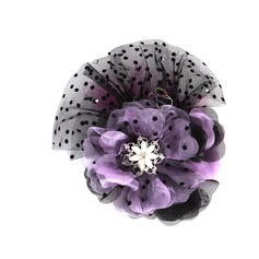 Fashion Rhinestone Tulle Flowers