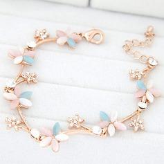 Beautiful Alloy/Czech Stones With Opal Ladies' Bracelets