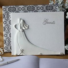 Bride and Groom Design Wedding Guest Book in White Resin(101018141)