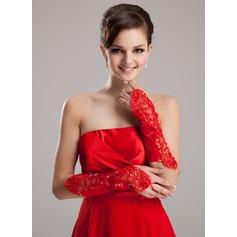 Elastic Satin Elbow Length Bridal Gloves/Flower Girl Gloves