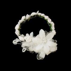 Precioso Satén/papel Flores/Diademas