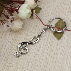 "Classic ""Melody Of Our Love"" Zinc alloy Keychains (Set of 6)"
