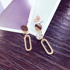 Nice Gold Plated Copper With Rhinestone Gold Plated Ladies' Fashion Earrings