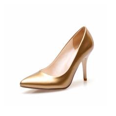 Women's Leatherette Stiletto Heel Pumps shoes (085096994)