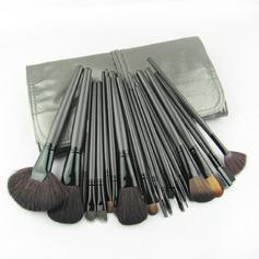 24 Pcs High Quality Makeup Brush Set with Light Cyan Bag