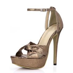 Women's Leatherette Stiletto Heel Sandals Platform shoes