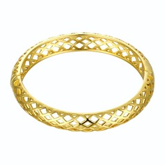 Exquisite Gold Plated Brass Unisex Fashion Bracelets
