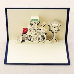 Three-dimensional Postman Greeting Cards