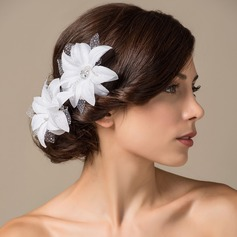 Gorgeous Satin Flowers & Feathers